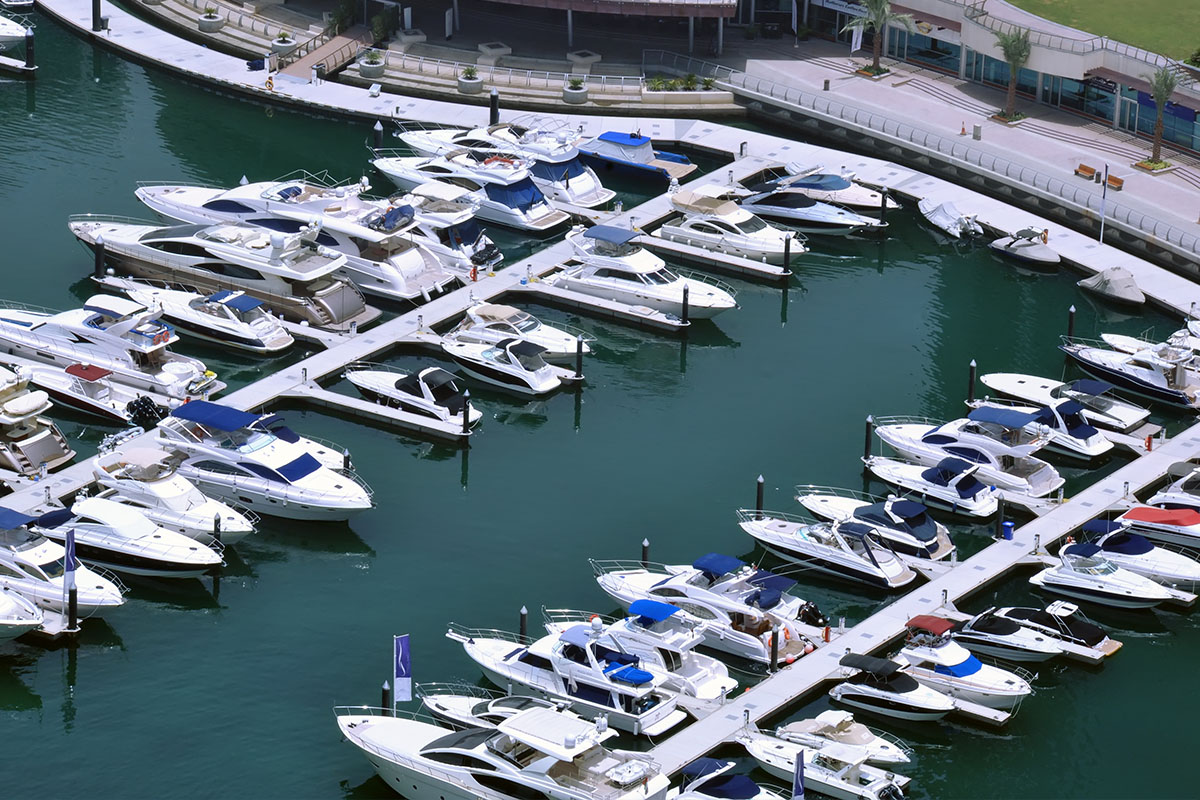 Marina is the only option for bigger boats and yachts