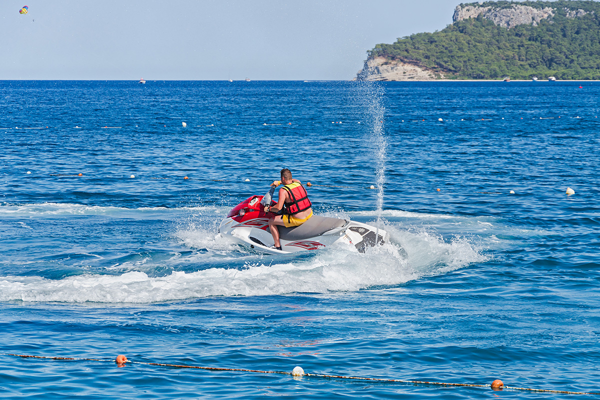 Typical rental restriction: You can use the jet ski just in a riding area