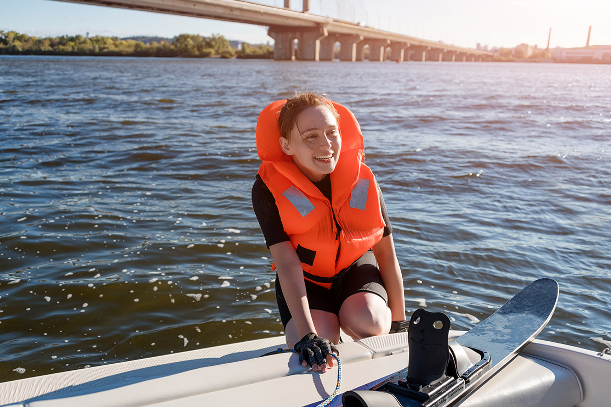 There is much more space on a boat for the watersport equipment