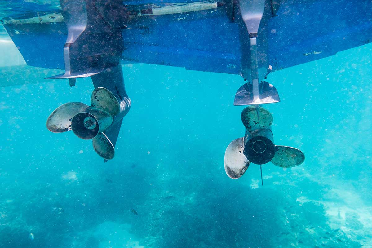 Boat propellers - could be really dangerous if the engine is on