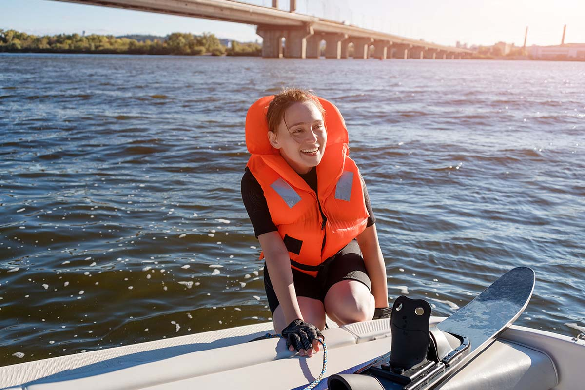 There is much more space on an inboard boat for the watersport equipment