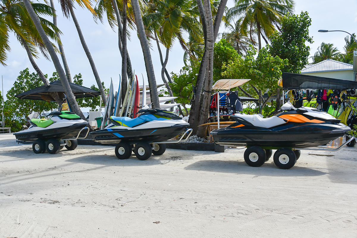 Jet skis are easy to move - even by hand