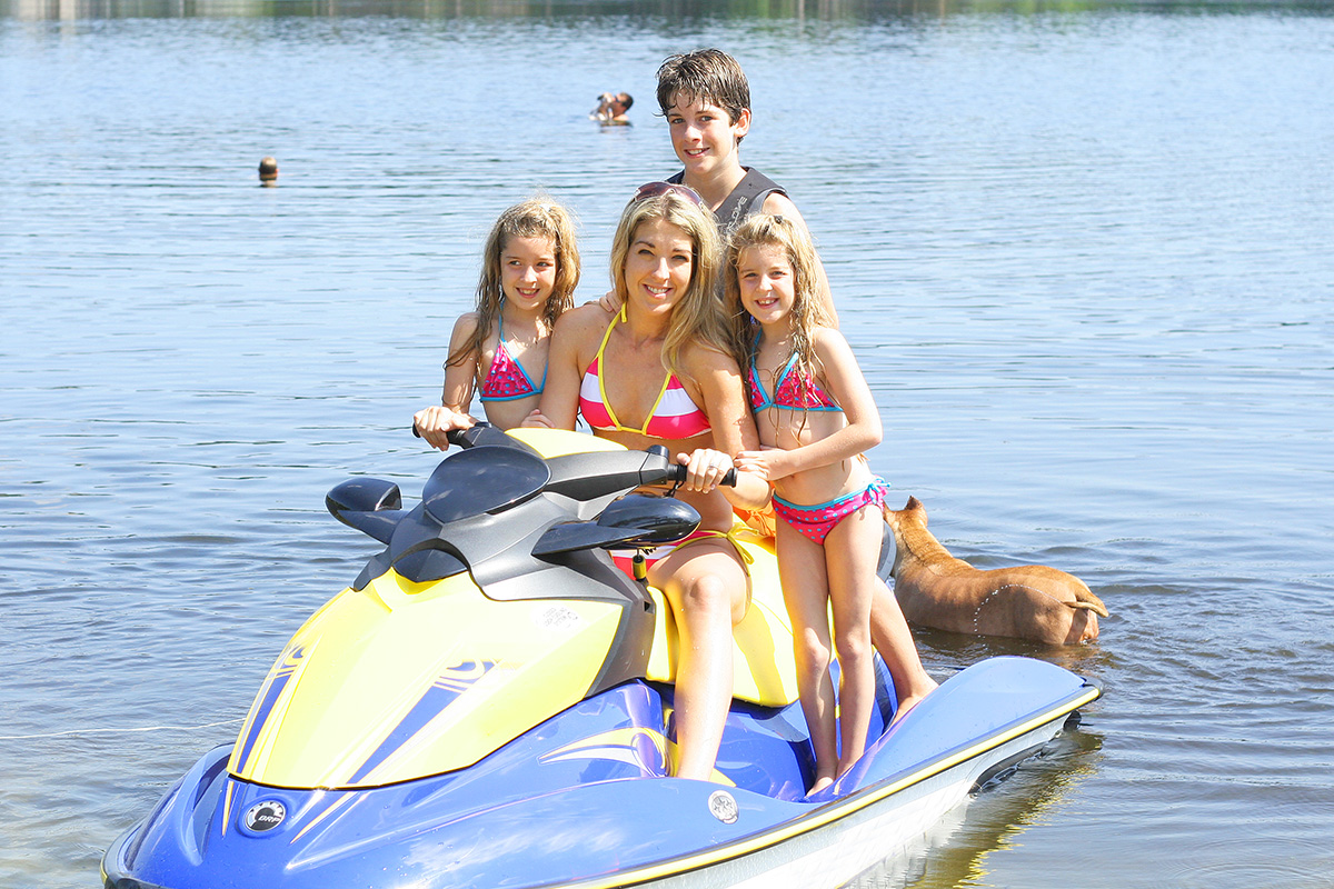 Overloaded jet skis are never safe - weight limits and rider capacities are important