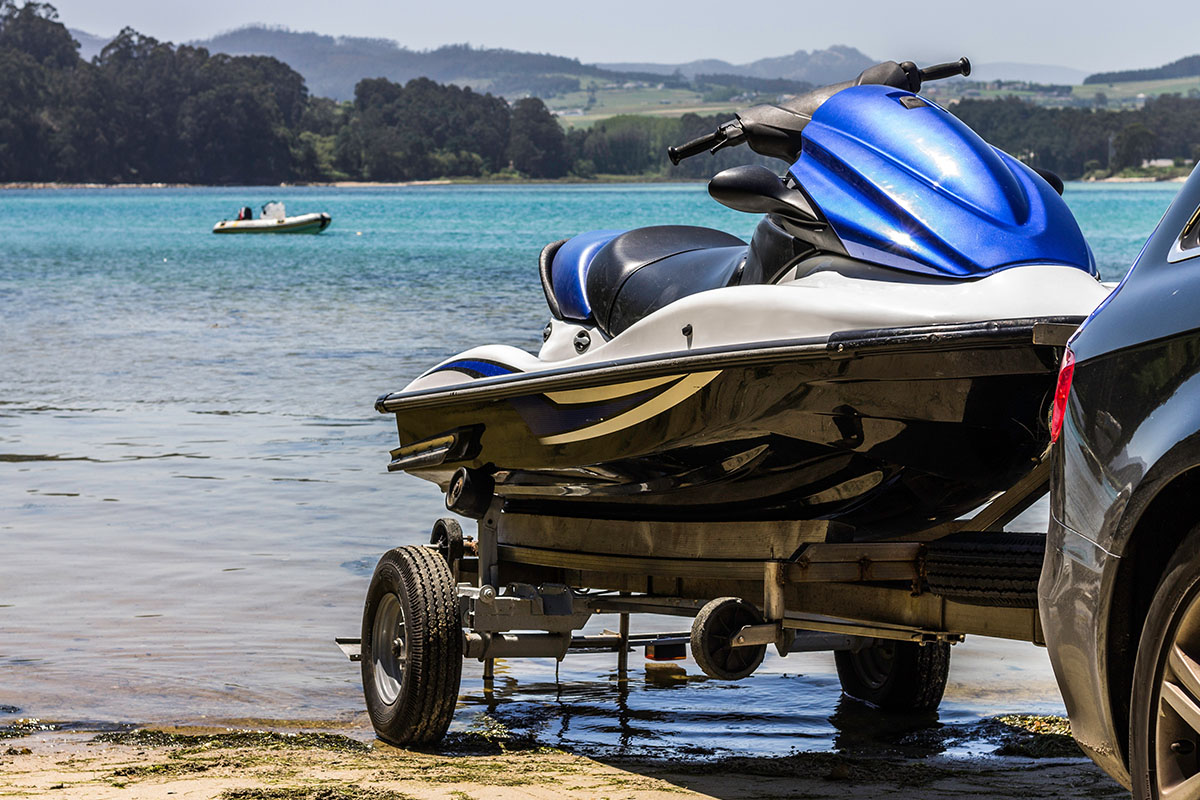 Peer to peer jet ski rental: trailering and launching will be your duty