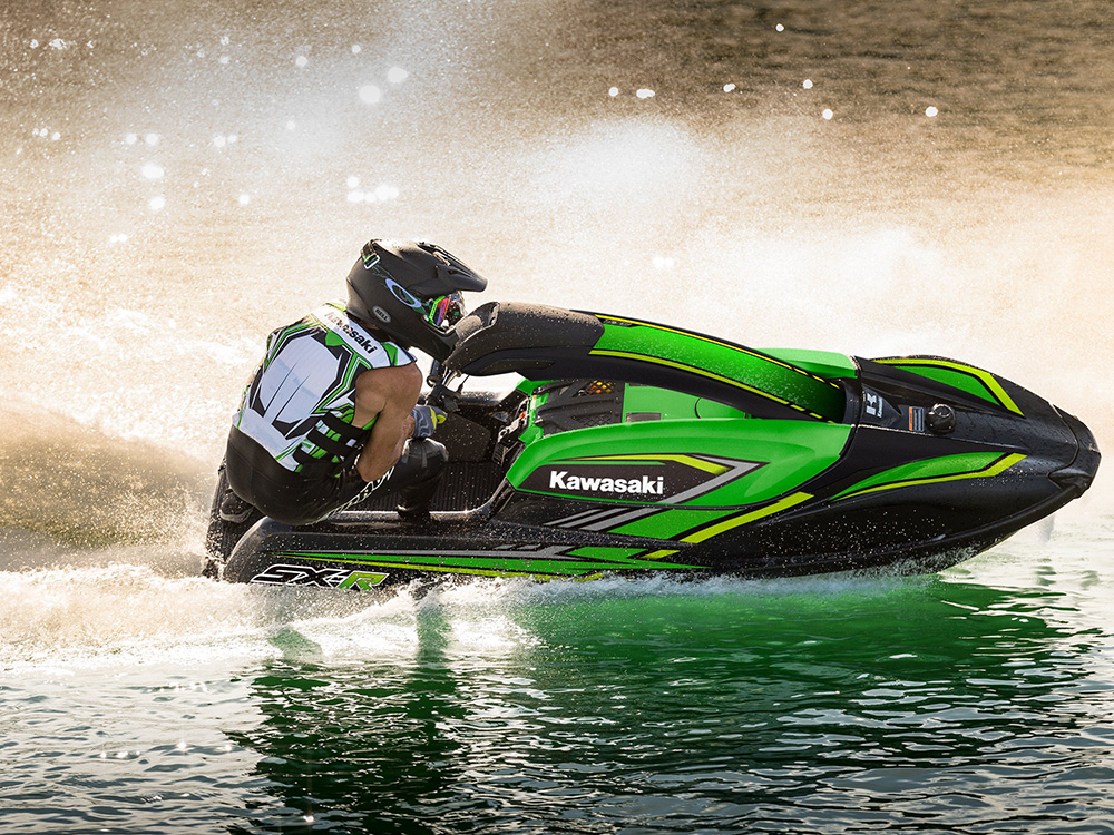 Riding a Kawasaki SX-R 1500 requires skills and practice