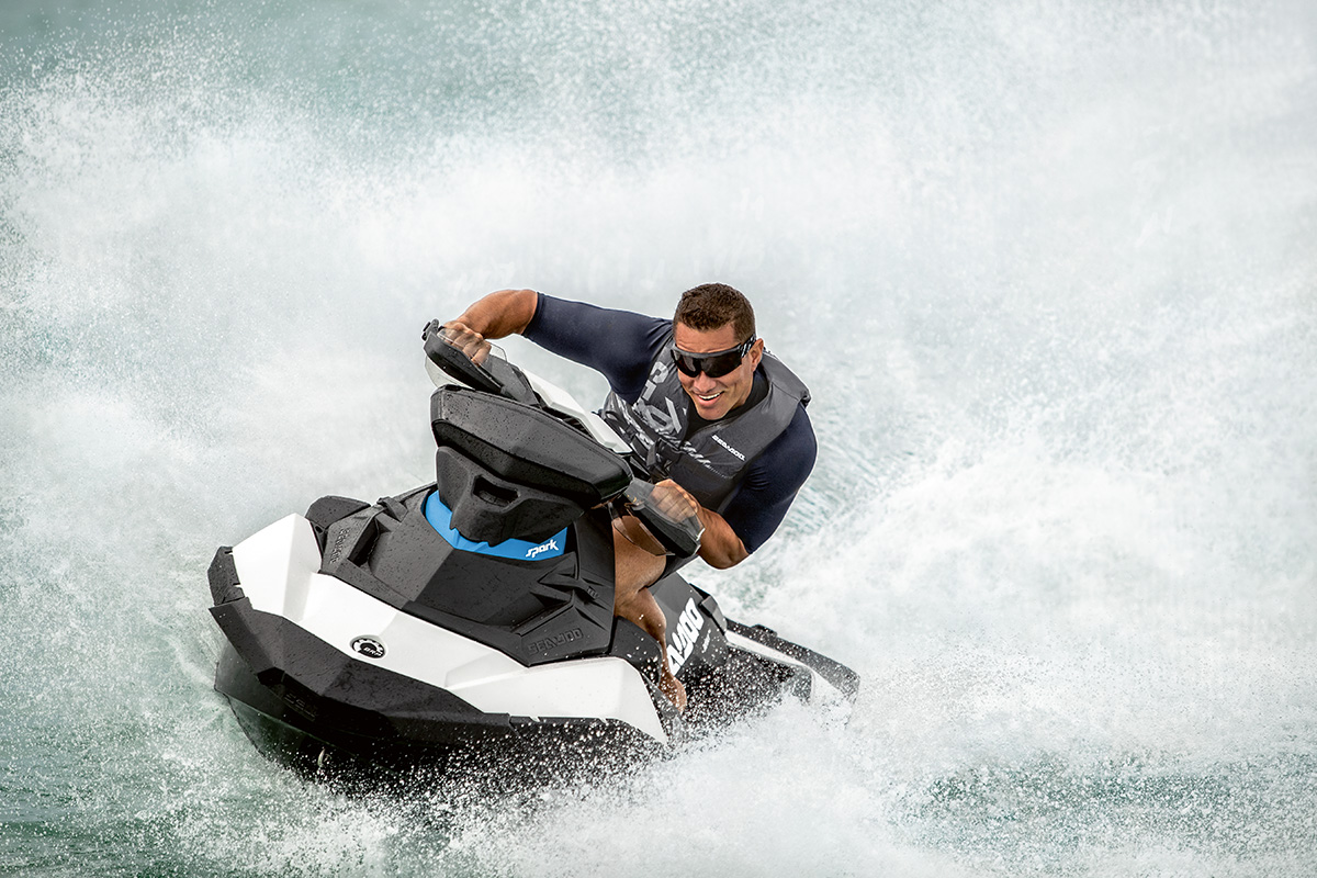The small Sea-Doo Spark accelerates well