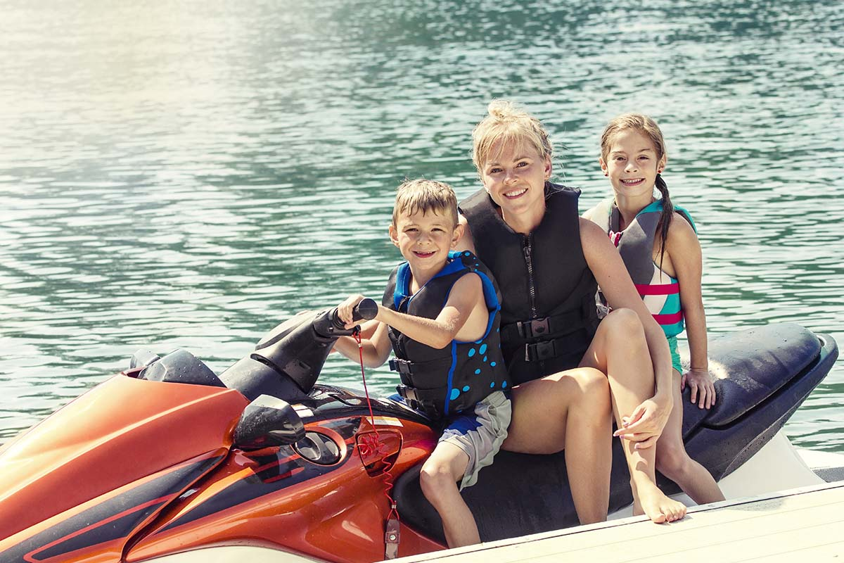 Riding a jet ski with passengers can be more dangerous - be careful!