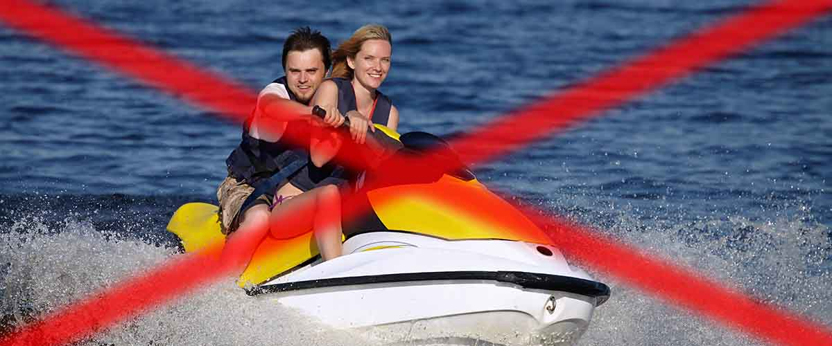 How to ride a jet ski with passengers