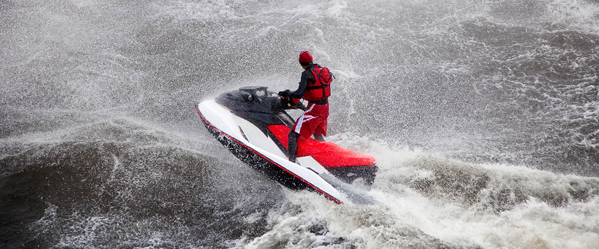 How to ride a jet ski in rough water