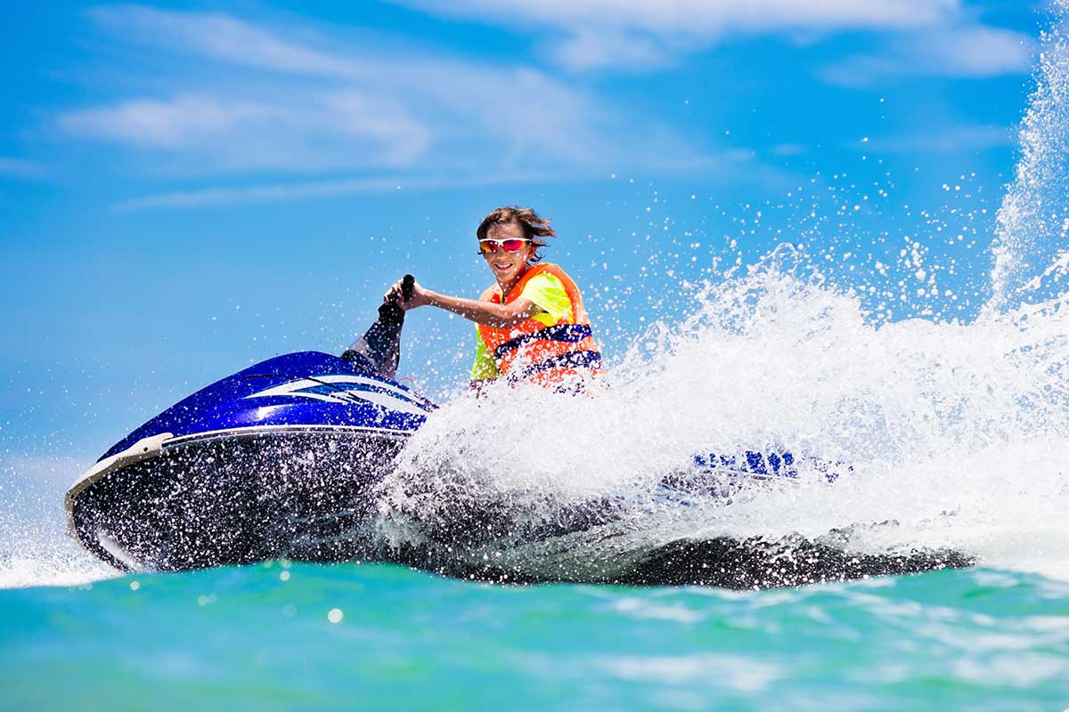 The age limit to ride a jet ski is between 12 to 18 years of age.