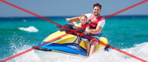 how to ride a jet ski with a child