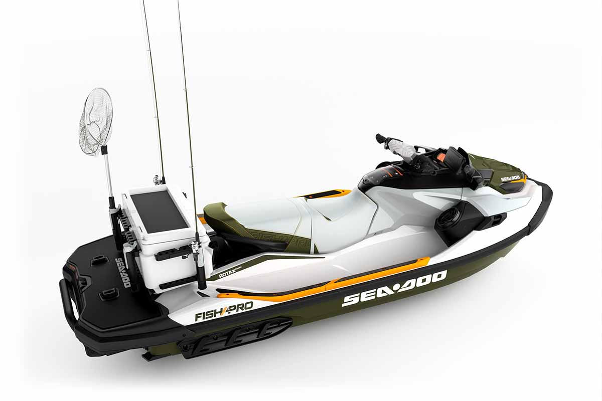 Sea-Doo LinQ Cooler with fishing rod holders