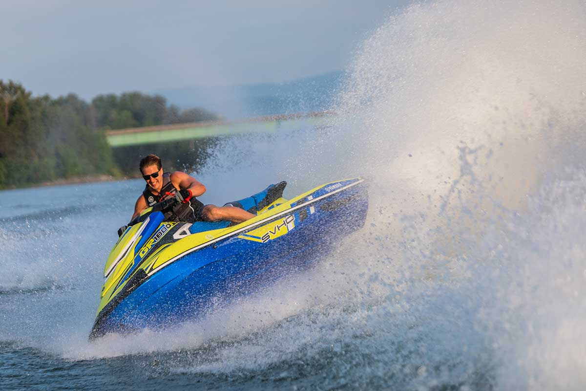 2020 Yamaha GP1800R top speed: 67-69 mph