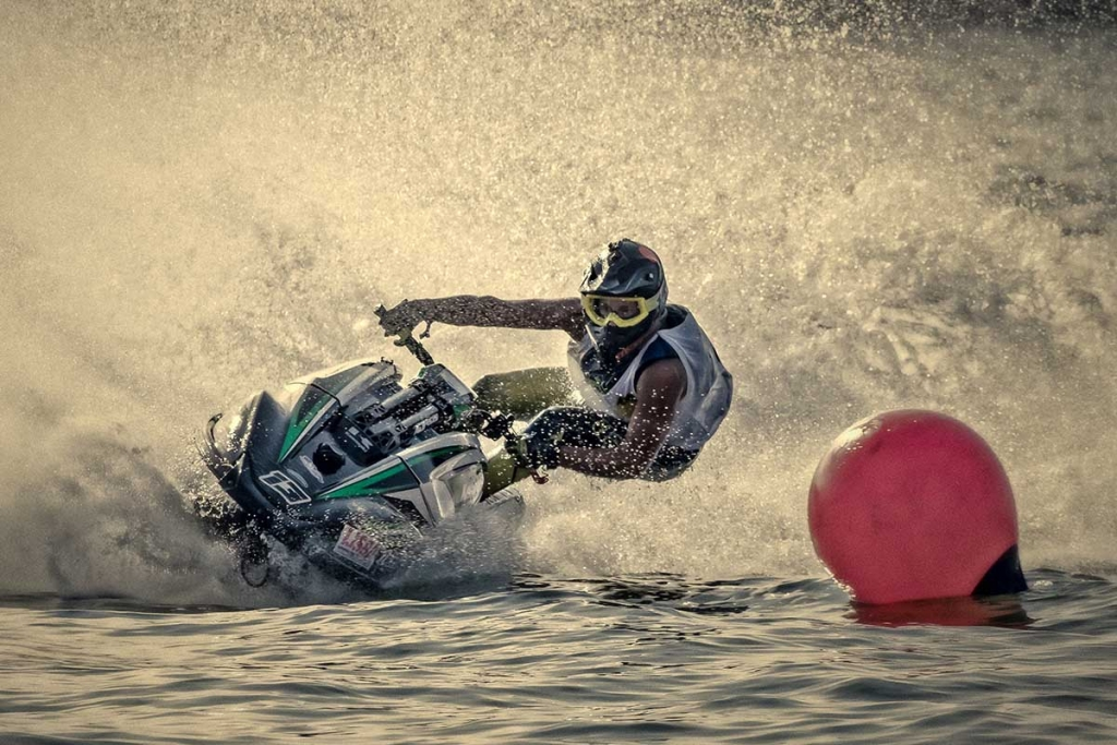 How to ride a stand up jet ski.